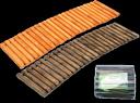Дорожка садовая деревянная 40х150 см